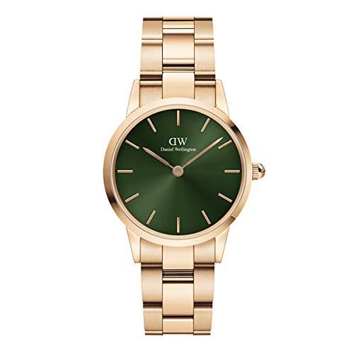 Reloj Daniel Wellington Iconic Link Emerald Rose Gold 28mm DW00100421