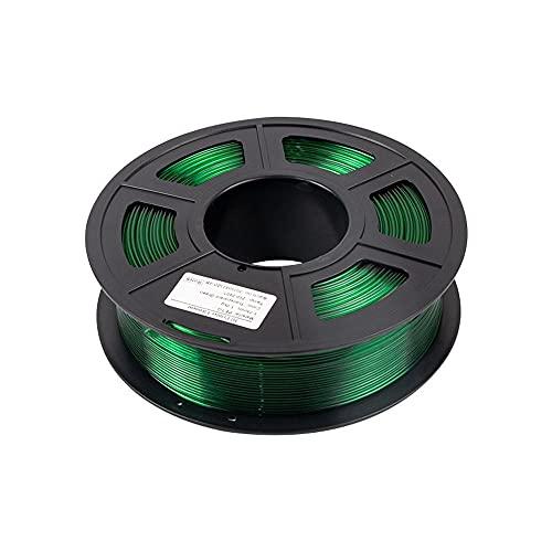 HANHAI PETG Filament 1.75mm, 3D Printer Filament - 1kg Spool, Dimensional Accuracy of +/- 0.02mm,210-240℃,Transparent Green