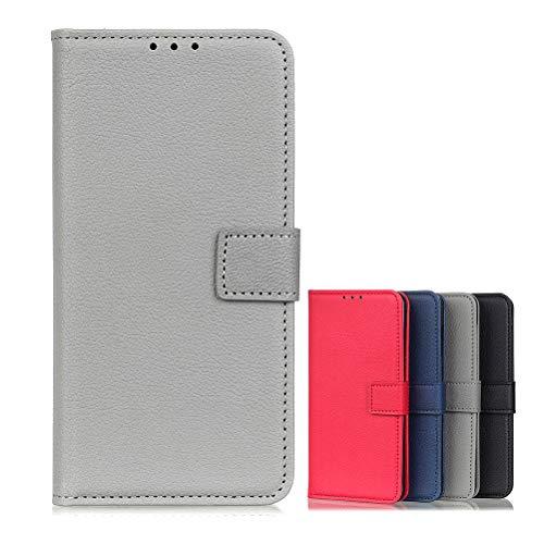 BaiFu Brieftasche Schutzhülle für Vivo NEX 3S 5G Hülle mit Kartenfach Etui Standfunktion & Magnetisch Handyhülle Leder Flip Lederhülle für Vivo NEX 3S 5G (Grau)