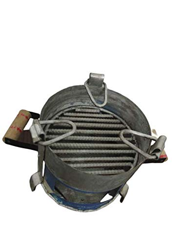 Amrapali Angeethi BBQ Style Metal Ashtray, Gas Stove tandoor Griller Heater Oven, sigdi chulha Traditional Standard Size Coal Charcoal Keeper