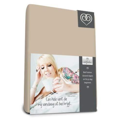 Bed-Fashion Jersey Hoeslaken 80 x 210 cm-Sand, Enkel