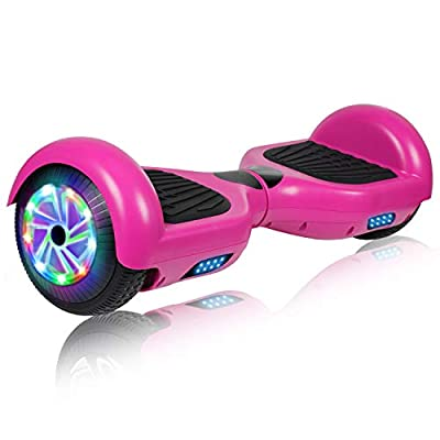 """UNI-SUN Hoverboard Self Balancing Scooter 6.5"""" Two-Wheel Self Balancing Hoverboard with Bluetooth Speaker and LED Lights Electric Scooter for Adult Kids Gift (A01 Purple(No Bluetooth))"""
