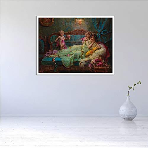 WSNDGWS Moderne kunst muurkunst tabel paardenbloem decoratie modern olieverfschilderij geen fotolijst 60x90cm B6