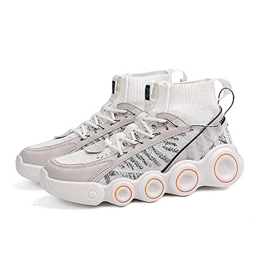 N\C Zapatos deportivos para hombre, zapatos para caminar, zapatos de correr, zapatos casuales, zapatos de suela gruesa, zapatos viejos para hombre de verano