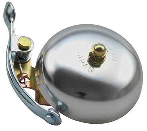 CRANE Bell Co. Fahrradklingel Suzu W Steel Band Mount, Silber Matt, CR-SZSB-SL