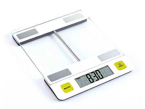 Gio Stile 7100 Bilancia da Cucina Digitale, Bianco/Verde/Acciaio