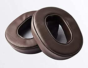 Justfitgear Replacement Protein Leather Ear Pads for Sony MDR-1A 1ADAC 1ABT Headphone Headset Earphone (Coffee)