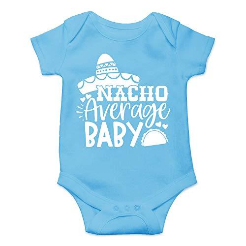 Qian Mu888 Nacho Average Baby – Divertido regalo de martes de taco – Bonito body de una pieza para bebé