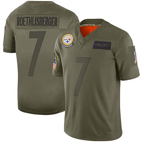 NBJBK NFL Trikot Pittsburgh Steelers 90# 7# 30# 19# NFL Fußball Jersey Sportswear Kurzarm Sport Top T-Shirt,b-7,XXL