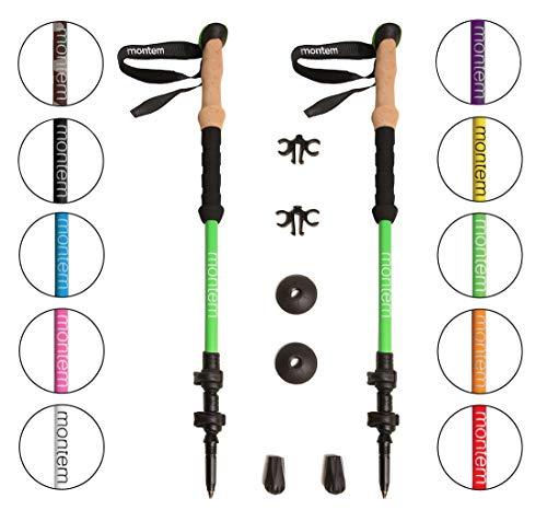 Montem Ultra Strong Hiking/Walking/Trekking Poles - One Pair (2 Poles) (Green)