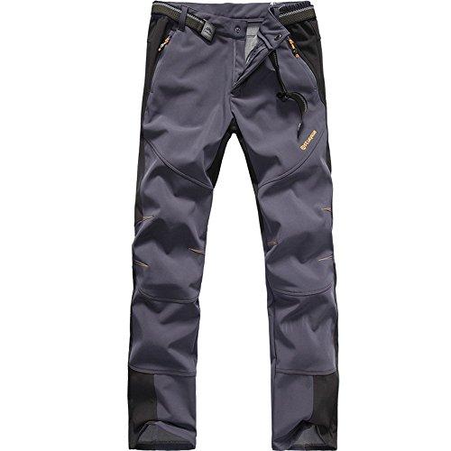 FLYGAGA Homme Pantalon Softshell Doublé polaire Coupe-vent...