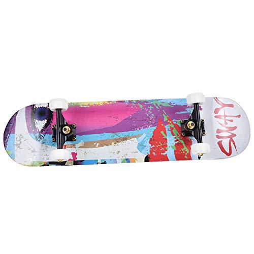 Demeras Sport Skateboard Street Skateboard Gruppenaktivität Erwachsene Jugendliche Jugendliche Jugendliche jeden Alters(Graffiti)