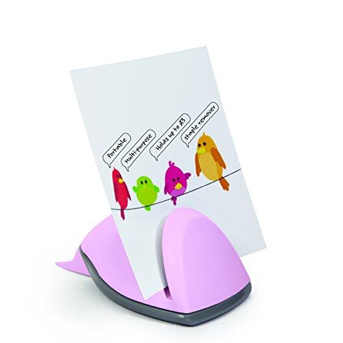 Rapesco 1331 - Sujetapapeles con quitagrapas, color rosa