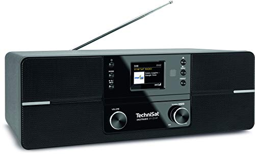 TechniSat DIGITRADIO 371 CD BT - Stereo Digitalradio (DAB+, UKW, CD-Player, Bluetooth, Farbdisplay, USB, AUX, Kopfhöreranschluss, Wecker, 10 Watt, Fernbedienung) schwarz
