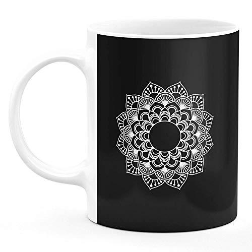 Microwave Safe Ceramic Coffee Mug for Gift (Mandala Art Rangoli Design