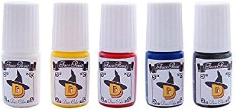 フェイスペイント・デコカラー*ミニボトル5色セット フェイスペイント ボディペイント 専用絵の具 水溶性
