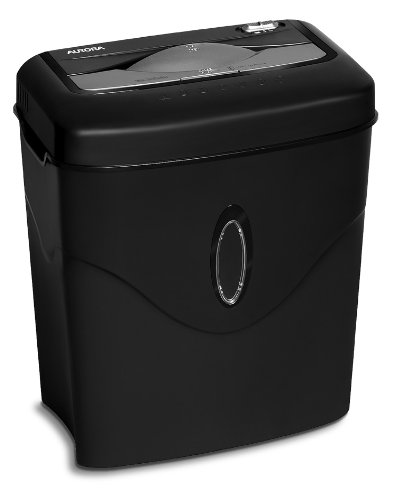 Aurora AU1050XE 10 Sheet Cross-Cut Paper/Credit Card Shredder with Basket Shredder,Black
