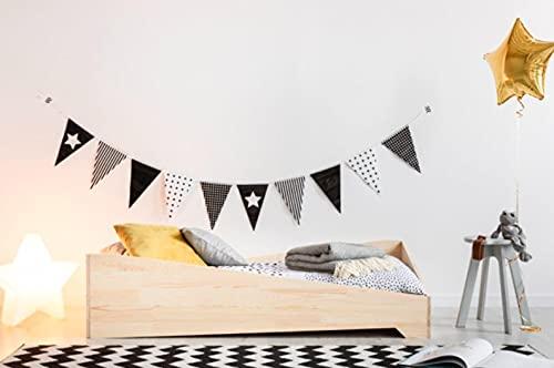 Mami | Cama para niños | Cuna Montessori Astro | Colchón Smart (no incluido) Altura niño | Color madera natural | Grabado personalizado con el nombre