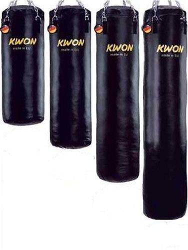 Kwon Boxsack 100 cm Sandsack Ø 35cm GEFÜLLT 50 Kg inkl. Deckenhalterung + Kette + Drehwirbel