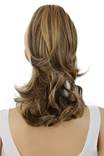 PRETTYSHOP 30cm Postiche Natte Queue De Cheval Extensions De Cheveux Volumineux Ondulé Mélange Brun H59b