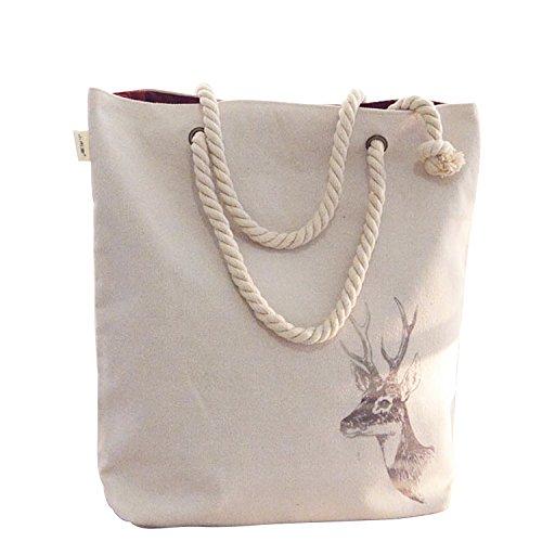 Frauen Mädchen Baumwoll Canvas Bag Umhängetasche Beutel