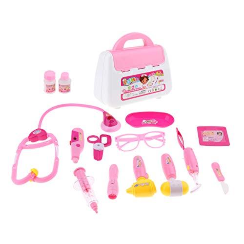 Toygogo - Set di strumenti educativi per bambini, motivo: dottore e infermieri, colore: rosa