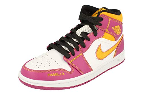 Nike Air Jordan 1 Mid DOD Mens Trainers DC0350 Sneakers Shoes (UK 7 US 8 EU 41, White University Gold 100)