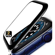 Screen Protector for Apple Watch Series 6/5/4/SE 44mm [2 Pack] with Alignment Tool - waterproof - Bubble-Free - 3D Full Coverage Anti-Scratch Shatter-Proof HD Film Screen Protector for iWatch 44mm