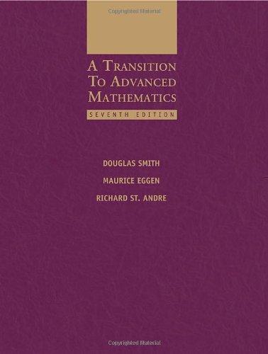 A Transition to Advanced Mathematics