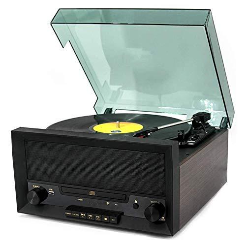WUBAILI Tocadiscos Bluetooth, Reproductor De Centro De Música con Control Remoto, CD, Radio Am/FM Y Entrada Auxiliar con Puerto USB Y Codificación SD, Altavoz Estéreo Incorporado