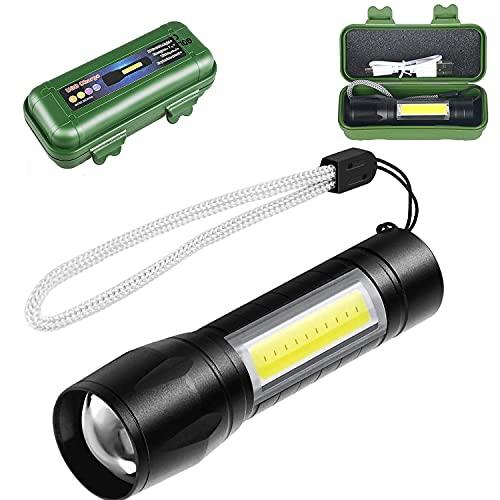 Linterna LED Recargable de Alta Potencia, para Ciclismo Camping y Montañismo, 3 Modos y Recargable mediante USB, Luz LED ALTA POTENCIA y recargable USB