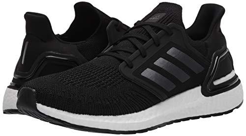 adidas Men's Ultraboost 20 Running Shoe, Black/Night Metallic/White, 10 M US 5