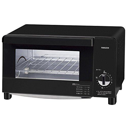 [山善] オーブントースター 1000W 4枚焼き可能 ブラック YTC-F100(B) [メーカー保証1年]