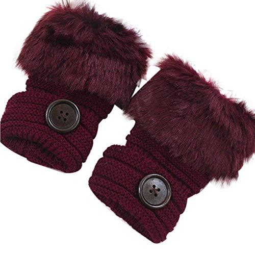 Damen Faux Winter Warm Hand Jungen Wärmen Fingerlose Chic Wrist Warmers Handschuhe (Color : I, Size : One Size)