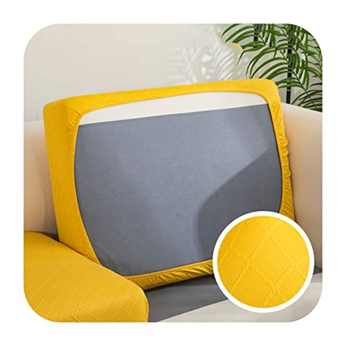 Funda de cojín de sofá gruesa Jacquard para sofá esquinero Funiture protector de asiento funda elástica color sólido funda de sofá 1-XXXXL