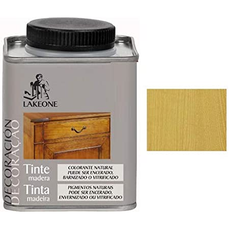 Lakeone 50101/1/4L.01 Tinte para La Madera, Roble Claro, 250 ...