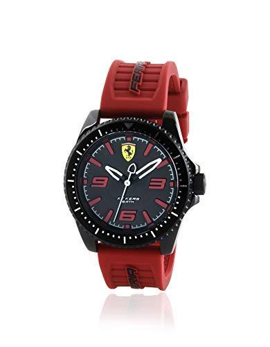 Scuderia Ferrari Herren Analog Quarz Uhr mit Silikon Armband 870030