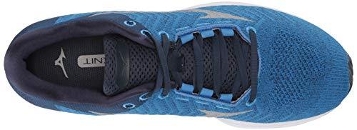 Mizuno Men's Wave Rider 23 WAVEKNIT Running Shoe, Campanula-Vapor Blue, 8.5 D