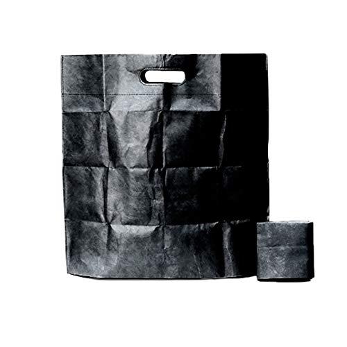 手ぶらエコバッグ less is【公式】薄い エコバッグ メンズ デザイン 折り畳み 簡単 コンパクト タイベック (S, ブラック)