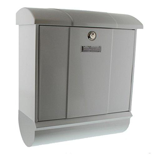 BURG-WÄCHTER Briefkasten-Set mit integriertem Zeitungsfach, A4 Einwurf-Format, EU Norm EN 13724, Verzinkter Stahl, Olymp-Set 91600 W, Weiß