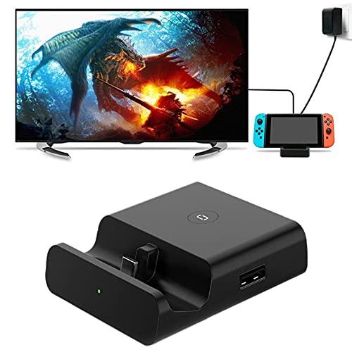 Switch Dock Set, Estación de Acoplamiento con Adaptador Tipo C a HDMI para N-intendo S-Witch (Negro)