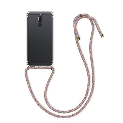 kwmobile Hülle kompatibel mit Huawei Mate 10 Lite - mit Kordel zum Umhängen - Silikon Handy Schutzhülle Mehrfarbig