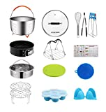 [Affordable Set] House Again Accessories Set for Instapot Pressure Cookers, Compatible with 8 Qt - Original Sturdy Steamer Basket with Instant Pot Accessories for All of Life's Need, Dishwasher Safe