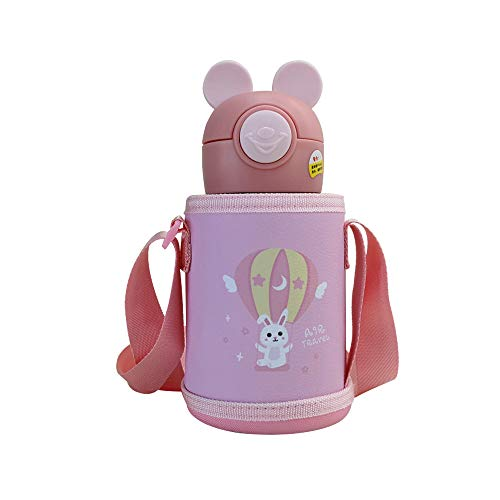 Cartoon Children's Insulation Cup 316 Stainless Steel Kettle Elf Mouse Ear Shape Kindergarten Water Cup Leather Cup Cover