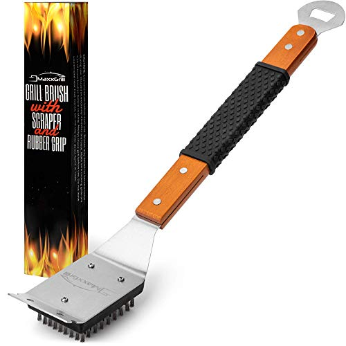 MaxxGrill Grill Brush and Scraper - Safe BBQ Brush for Gas Grill - Grill Cleaner Brush for All Grill Types Including Weber