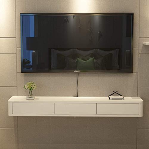 TV wandconsole wandconsole zwevend voor tv met kastdeuren multimedia-console middenconsole wandrek TET-meubel