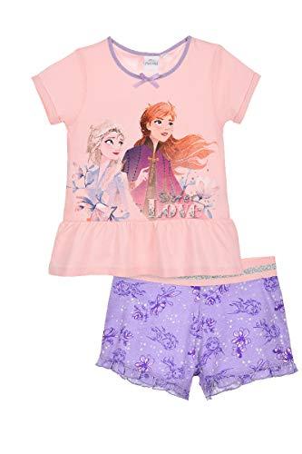 Die Eiskönigin 2 Schlafanzug Pyjama Mädchen (Rosa, Gr. 116)