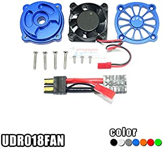 Part & Accessories CNC Aluminum Motor HEATSINK with Cooling Fan for TRAXXAS Unlimited Desert Racer Traxxas UDR - (Color: Black)