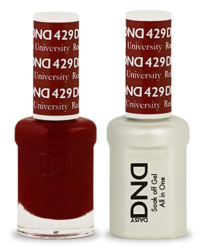 DND Soak Off Gel 0.5 Ounce (429 Boston University Red)