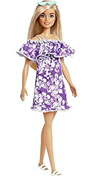 Barbie Loves The Ocean Beach-Themed Doll  11.5-inch Blonde  Made from Recycled Plastics Wearing Fashion & Accessories Gift for 3 to 7 Year Olds